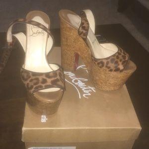 Leopard Christian Louboutin Platform Sandals